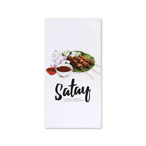 MUOC Food Pop-up Card - Satay