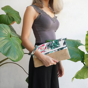 Nazanin Clutch - Orchids