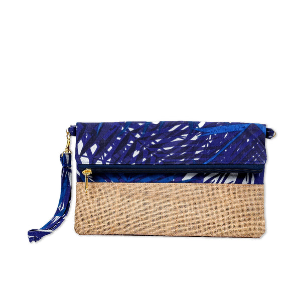 Nazanin Clutch - Blue Tropical