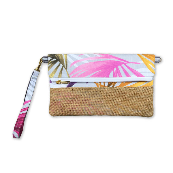 Nazanin Clutch - Multicolor Palm
