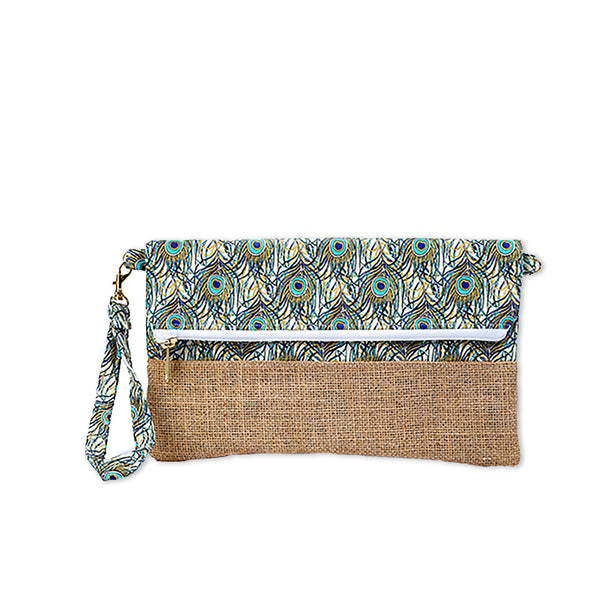 Nazanin Clutch - Peacock