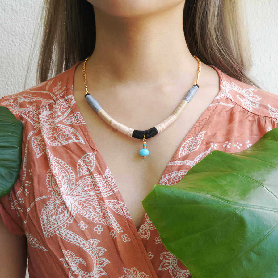 En Route Handcrafted Bead Necklace