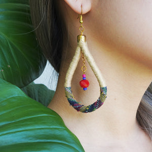 En Route Handcrafted Kantarines Woven Bead Earrings