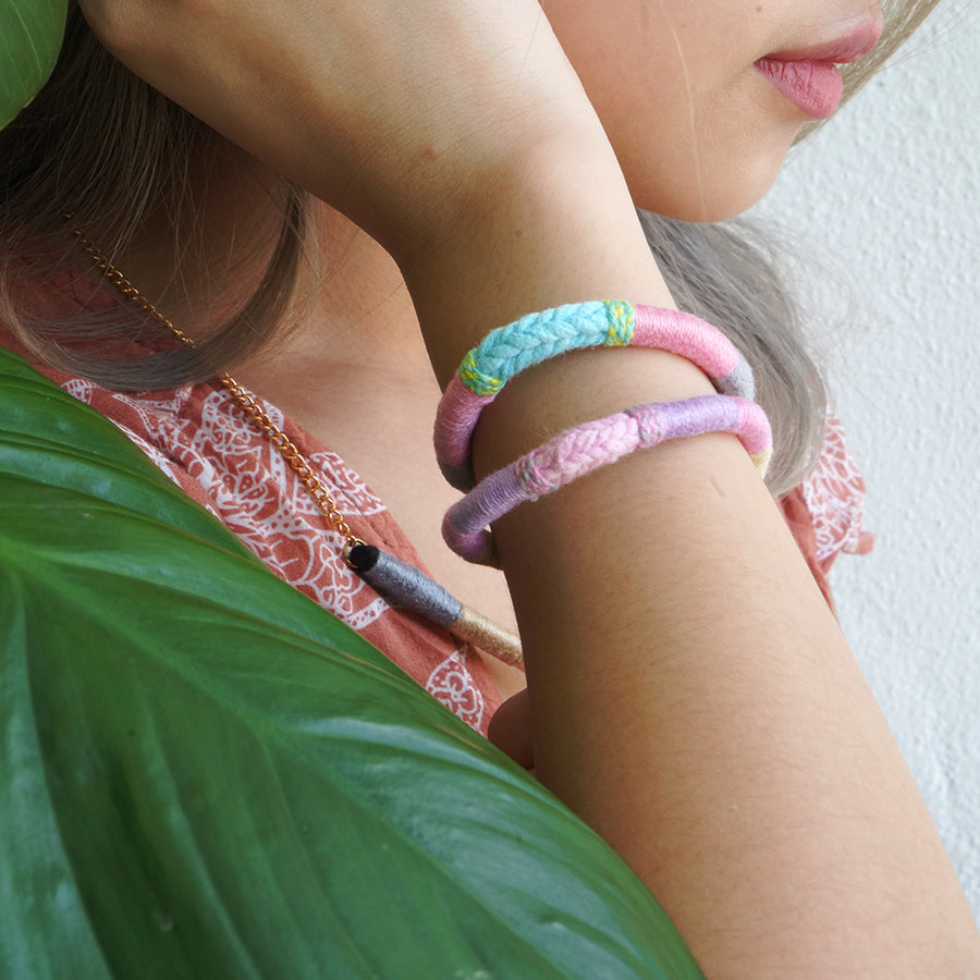 En Route Handcrafted Upcycled Bracelet