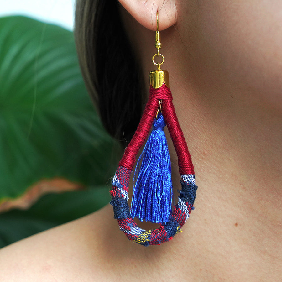 En Route Handcrafted Kantarines Woven Tassel Earrings