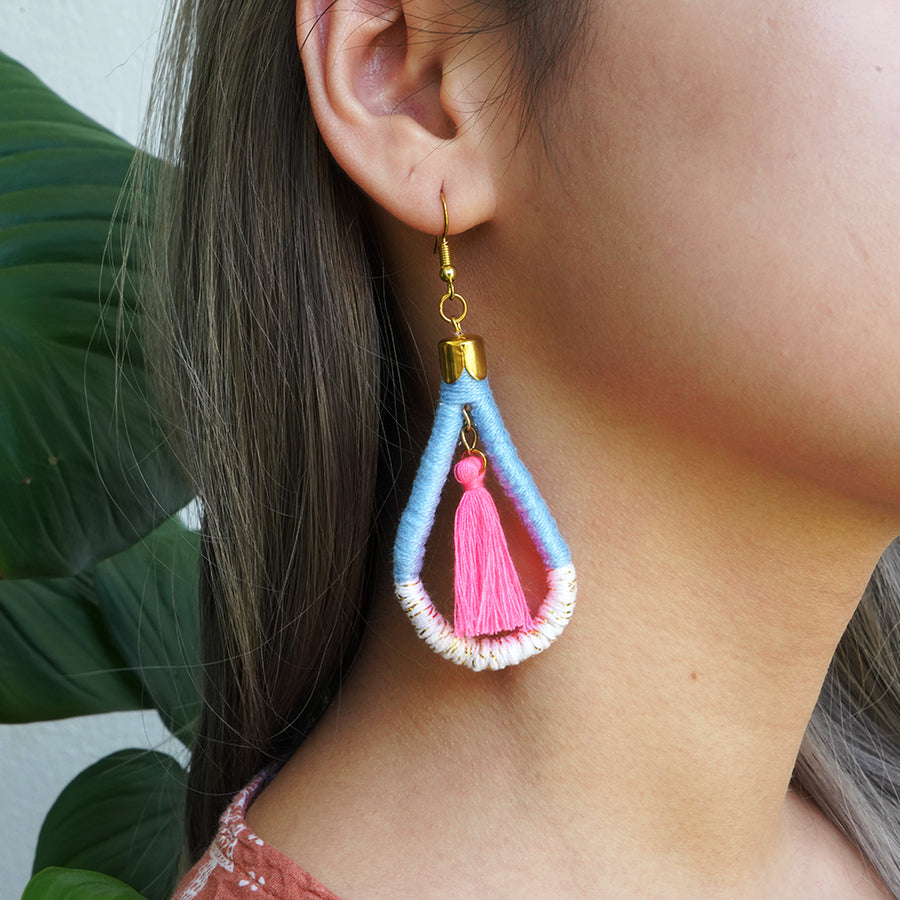 En Route Handcrafted Tassel Earrings