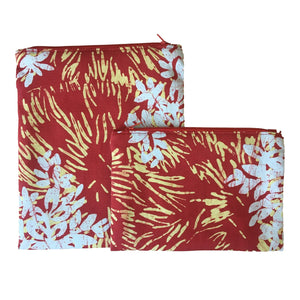 Batik Boutique Snack Bags - Red Bunga Api