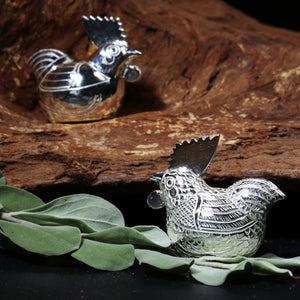 Selaka Kotagede Silver Ornaments - Roosters