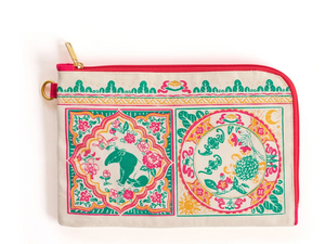 Bingka Travel Pouch - Peranakan Tiles