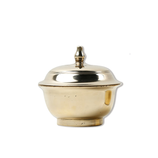 Tembaga Terengganu - Small Brass Bowl with Lid