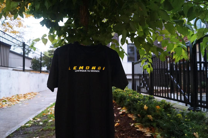 LEMONDI BLACK LOGO T-SHIRT
