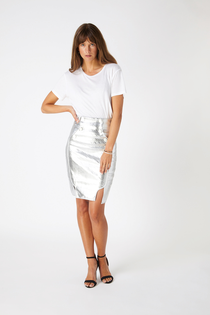 Shoreditch Metallic Skirt