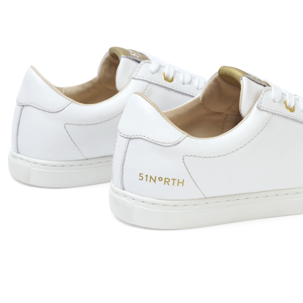 51N Trainers - White/Gold