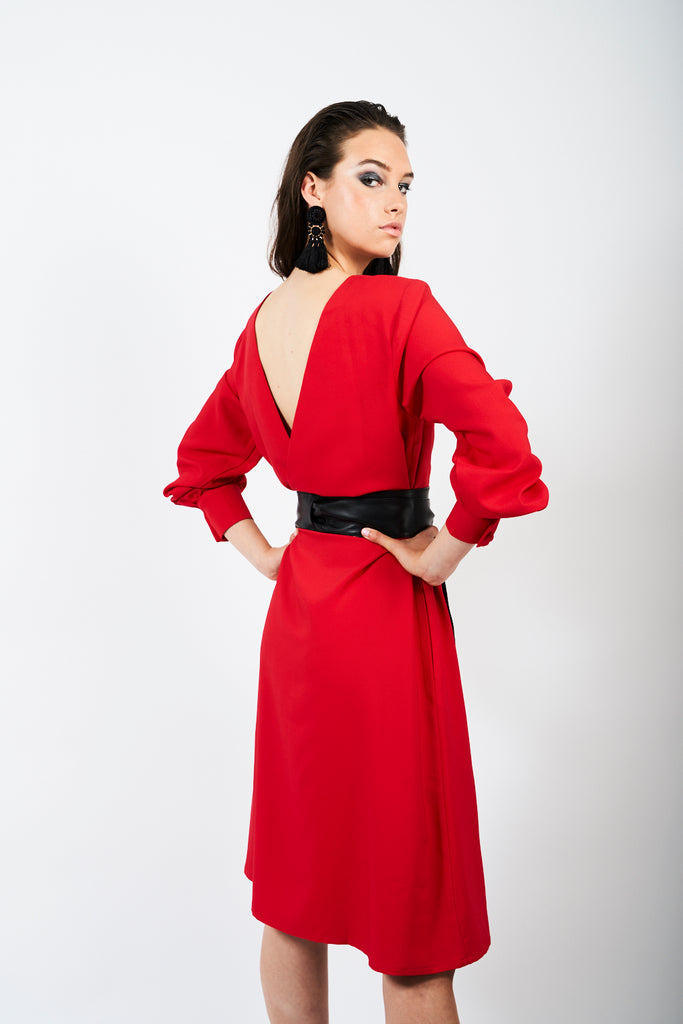 The Wardour Dress - Scarlet Red