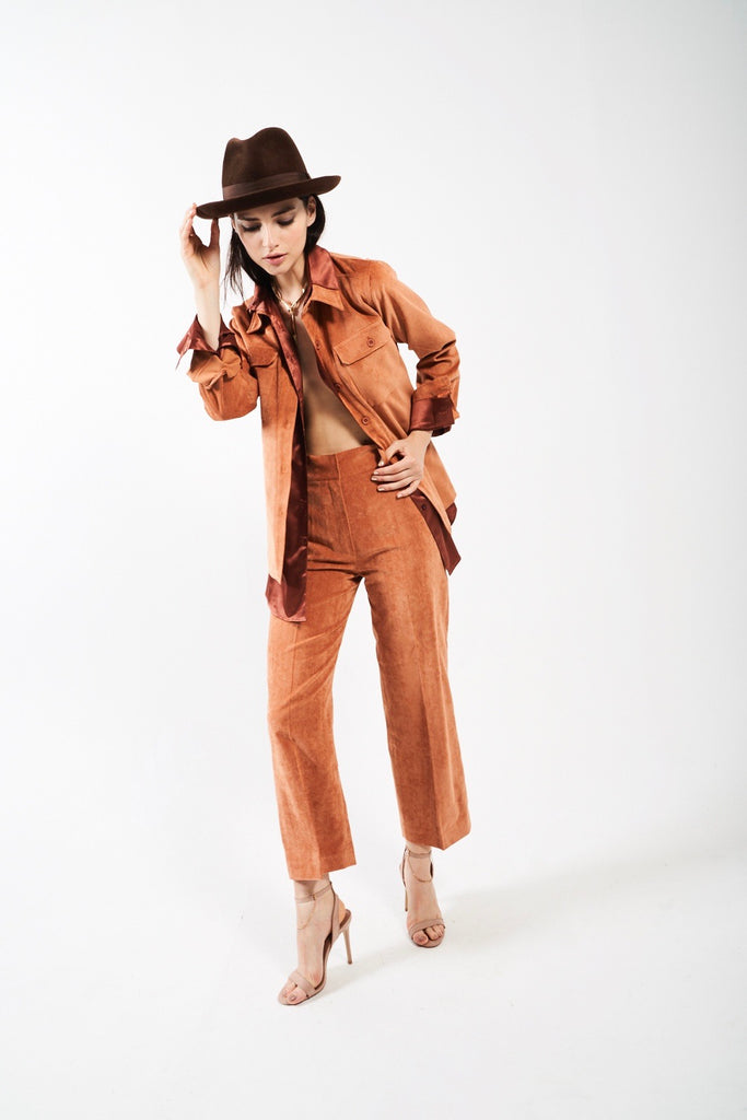 Belted Safari Jacket - Cognac