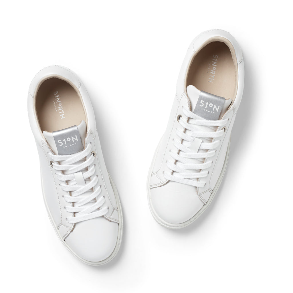 51N Trainers - White/Silver