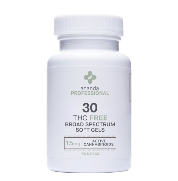 THC FREE BROAD SPECTRUM 15MG, 30 COUNT SOFT GEL