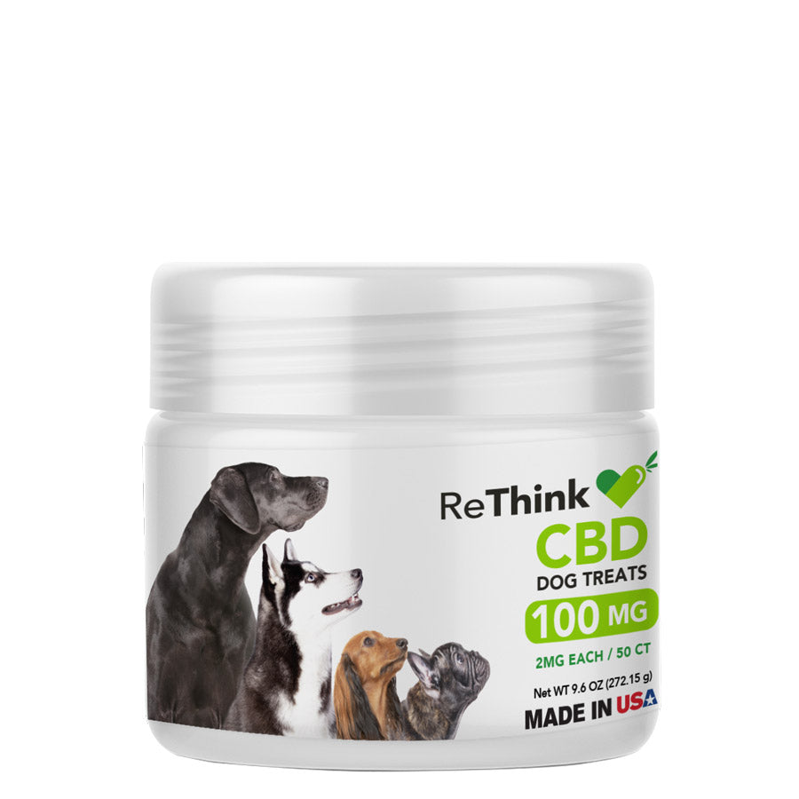 ReThink CBD Dog Treats – 100mg | 50ct