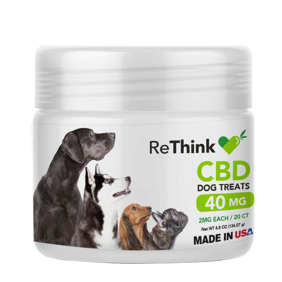 ReThink CBD Dog Treats – 40mg | 20ct