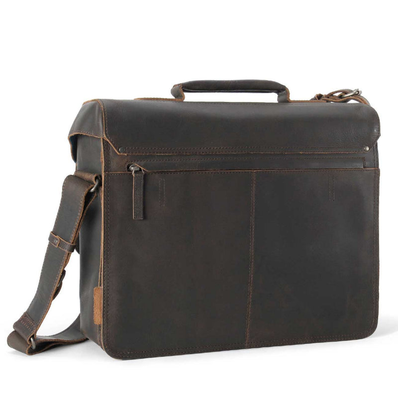 Aunts & Uncles Finn Large Business Bag - Vintage Brown