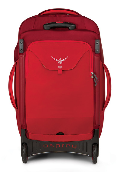"Osprey Shuttle 30"" Wheeled Duffle Diablo Red Back"