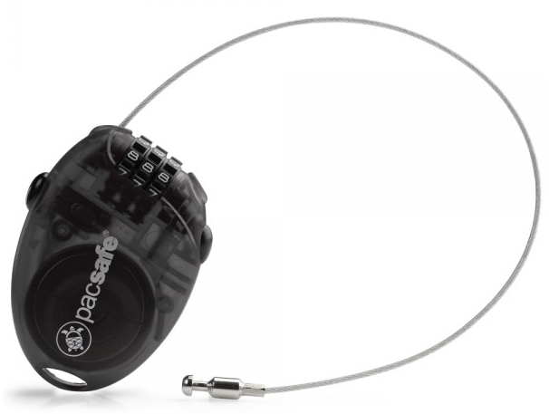 Pacsafe Retractasafe 100 Retractable 3 Dial Cable Lock