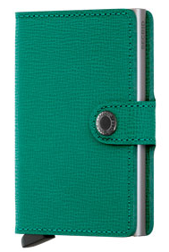 Secrid RFID Blocking Crisple Mini Wallet Emerald