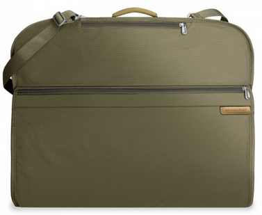 Briggs & Riley Baseline Classic Foldover Garment Cover Olive Green