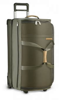 Briggs and Riley Baseline Large Upright Duffle Olive Side