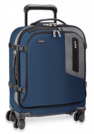 Briggs & Riley BRX Explore International Wide-Body Spinner Carry-On Blue