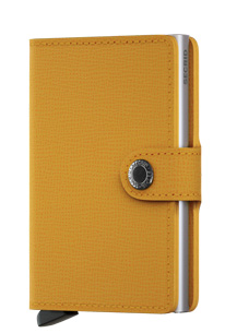 Secrid RFID Blocking Crisple Mini Wallet Amber