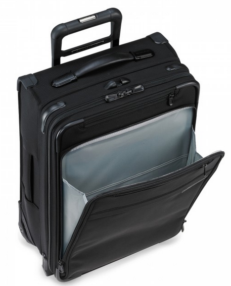 Briggs & Riley Baseline International Carry-On Wide Body Upright Black Front Pocket