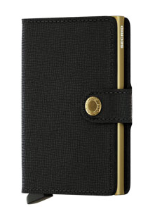 Secrid RFID Blocking Crisple Mini Wallet Black Gold