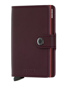 Secrid RFID Blocking Mini Wallet Burgundy