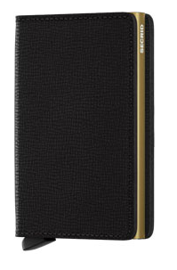 Secrid RFID Blocking Crisple Slim Wallet Black Gold