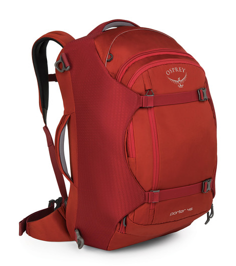 Osprey Porter 46L Travel Backpack Jasper Red