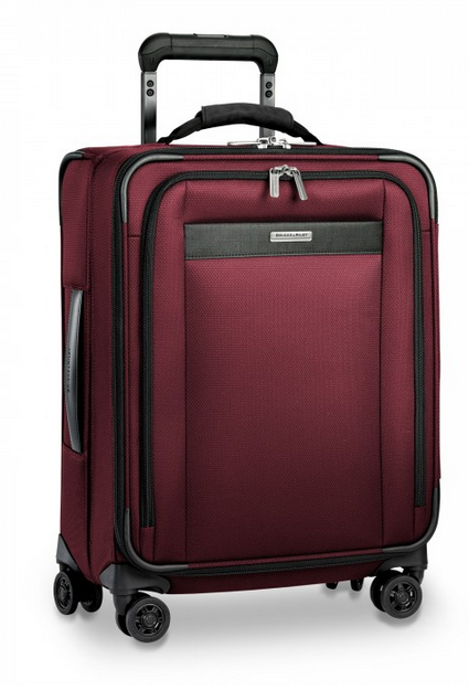 "Briggs & Riley Transcend 21"" Carry-On Expandable Wide-Body Spinner Merlot"