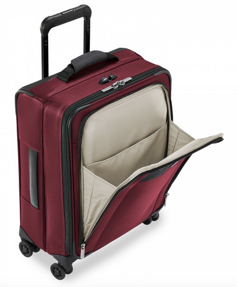 "Briggs & Riley Transcend 21"" Carry-On Expandable Wide-Body Spinner Front Pocket"