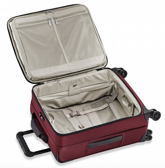 "Briggs & Riley Transcend 21"" Carry-On Expandable Wide-Body Spinner Interior"