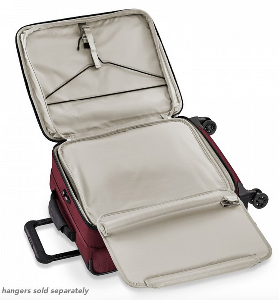 "Briggs & Riley Transcend 21"" Carry-On Expandable Wide-Body Spinner garment folder suiter"