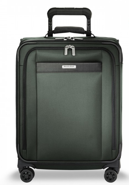 "Briggs & Riley Transcend 21"" Carry-On Expandable Wide-Body Spinner Rainforest"