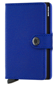 Secrid RFID Blocking Crisple Mini Wallet Blue Black