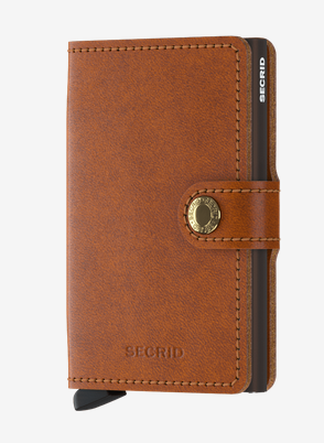 Secrid RFID Blocking Mini Wallet Cognac Brown
