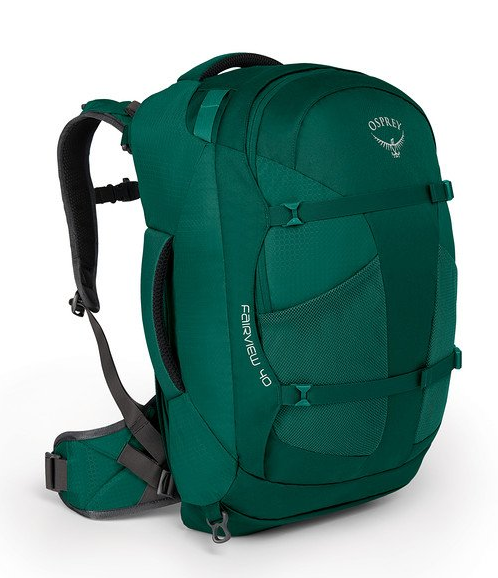 Osprey Fairview 40L Backpack Rainforest Green Front View