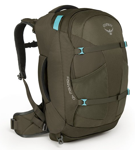 Osprey Fairview 40L Backpack Misty Grey Front View