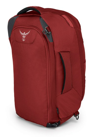 Osprey Farpoint 40 Backpack Back View Straps Tucked Away