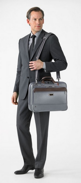 Briggs & Riley @Work Medium Brief Grey Wearing