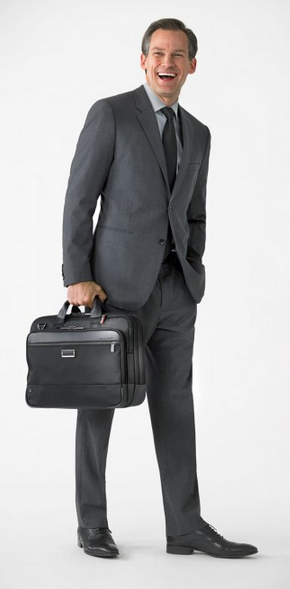 Briggs & Riley @Work Medium Brief Black Wearing