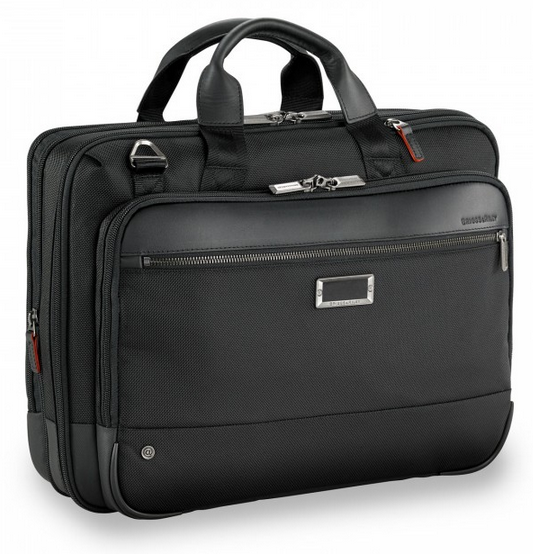 Briggs & Riley @Work Medium Expandable Brief Black Front