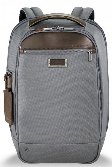 Briggs & Riley @Work Medium Slim Backpack Grey